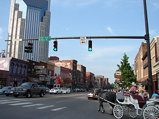 Broadway (Nashville, Tennessee) Entertainment district and major thoroughfare