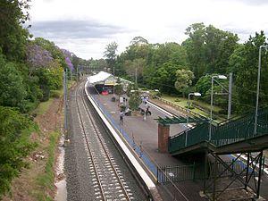 Wahroonga railway station - Northbound view