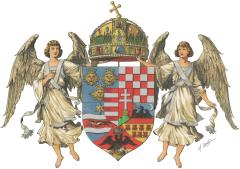 Grb ugarskoga dijela Monarhije prije dodavanja grba Bosne i Hercegovine (1915.)