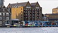 Wapping Police Pier, St John's Wharf, and the Captain Kidd pub 01.jpg