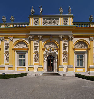 Wilanów Palace - The north wing, erected by Elżbieta Sieniawska.