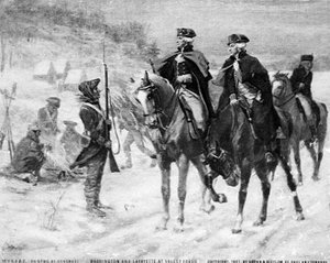Washington and Marquis de La Fayette at Valley Forge