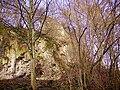 Wasserfall Dreimühlen, Blick auf Ruine.jpg