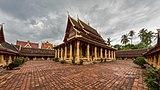 Wat Si Saket in its paved courtyard, Vientiane, Laos.jpg