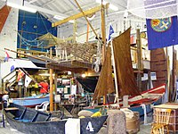 Watchet Boat Museum interior.JPG