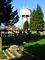 Water Tower on West Road, Bury St Edmunds, taken from the cemetery. - geograph.org.uk - 1230605.jpg