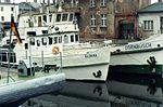 Weiße Flotte Inland Shipping, Stralsund DDR Jan 1990 (3089547035).jpg