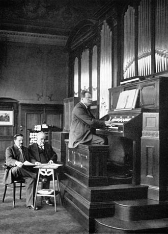 Recording session with Max Reger for the Welte-Philharmonic-Organ, 1913 WelteMaxReger1913.jpg