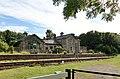 Wensley old railway station buildings & platform, Wensleydale Railway, North Yorkshire, England.jpg