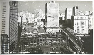 Viaduto do Chá e Anhangabaú - São Paulo - Brasil