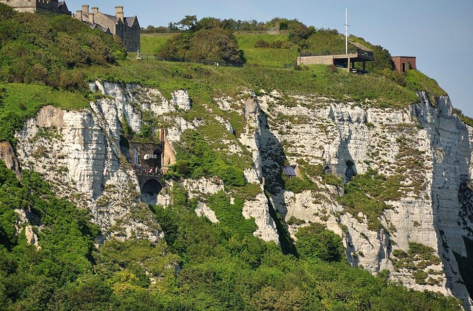 White Cliffs below Dover Castle
