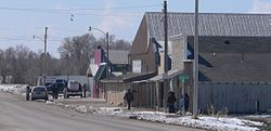 Nebraska Highway 87 forms the main street of Whiteclay
