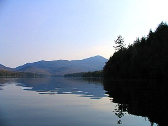 Lake Placid (New York) - Image: Whiteface from N end of Lake Placid