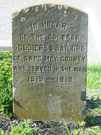 Whitesboro, New Jersey - Image: Whitesboro NJ WWI memorial