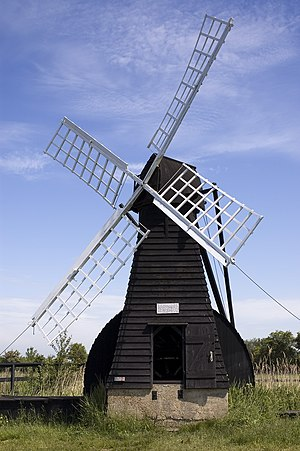 Windpump - A working wooden windpump on The Fens in Cambridgeshire, UK