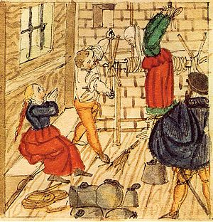 Witch-hunt - The torture used against accused witches, 1577.