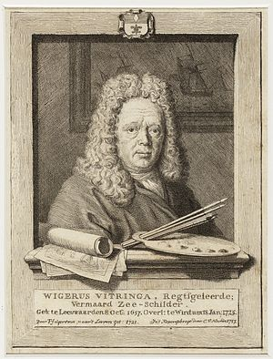 Wigerus Vitringa - Engraving of Vitringa by Cornelis van Noorde after a drawing by Vitringa's pupil Tako Hajo Jelgersma done in 1721.