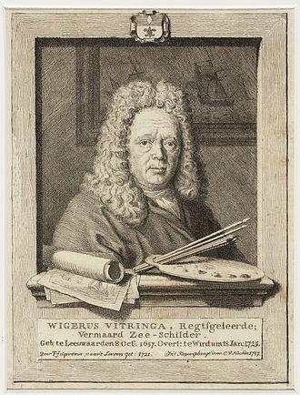 Wigerus Vitringa - Engraving of Vitringa by Cornelis van Noorde after a drawing by Vitringa's pupil Tako Hajo Jelgersma done in 1721.