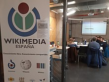 Wiki4MediaFreedom edit-a-thon in Madrid 12.jpg
