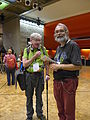 Wikimania 2014 attendees on level -1 of the Barbican Centre at 2-10pm on Friday.jpg