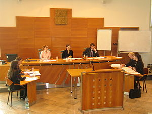 Willem C. Vis Moot - Pre-moot at Olomouc Faculty of Law courtroom