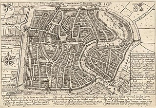 1628 map of Haarlem (Ampzing)
