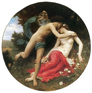 Anemoi - Zephyrus, the Greek god of the west wind and the goddess Chloris, from an 1875 oil painting by William-Adolphe Bouguereau