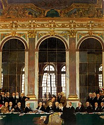"Sir William Orpen, KBE, ""The Signing of Peace in the Hall of Mirrors, Versailles, 28 June 1919."""
