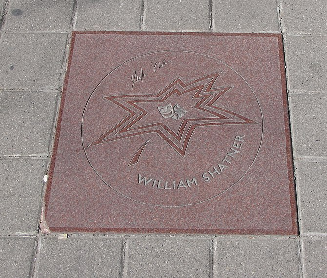 William Shatner's star on Canada's Walk of Fame
