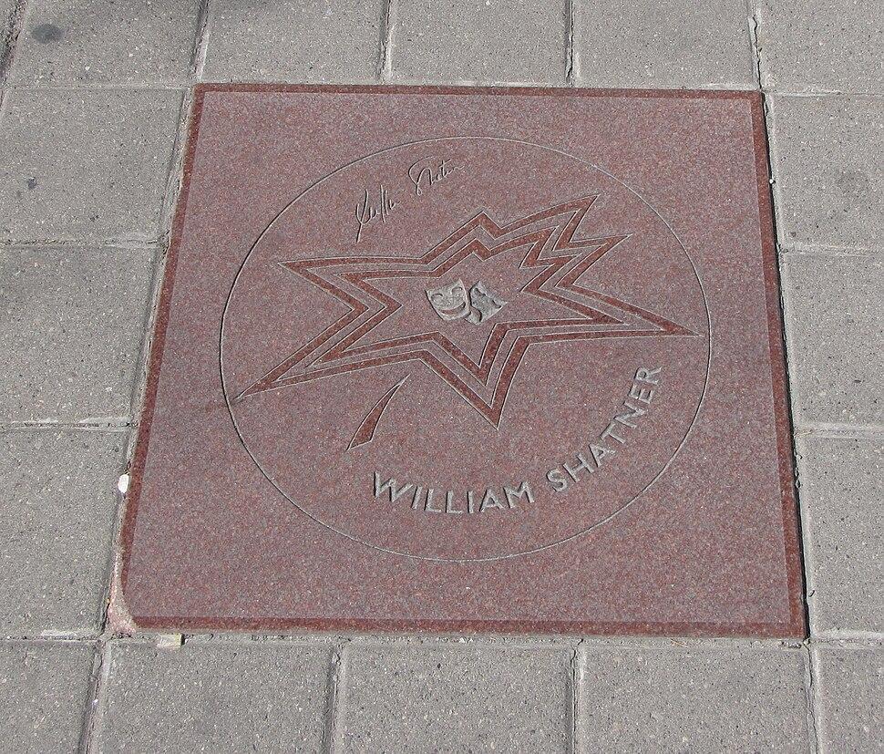 William Shatner star on Walk of Fame