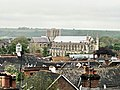 Winchester cathedral from window of Hampshire County Council HQ - taken in 2009 (2).jpg