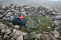 Wind shelter on Scafell Pike Summit. - geograph.org.uk - 496233.jpg