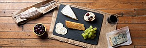 Cheese and crackers - Cheese and crackers with red wine and other foods