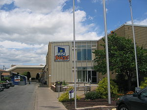 Berwick, Pennsylvania - Entrance to the corporate headquarters and production plant of Wise Foods