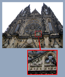 The 20th century architects shown around Neo-Gothic elements