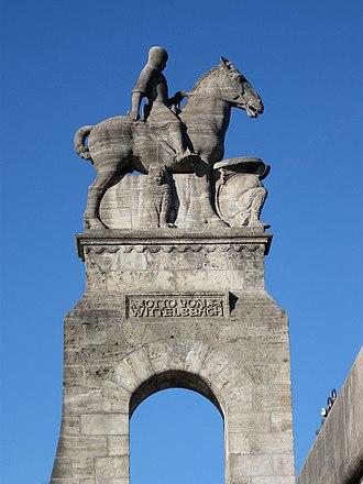 Otto I, Duke of Bavaria - Otto von Wittelsbach, Wittelsbach Bridge in Munich, sculptor Georg Wrba