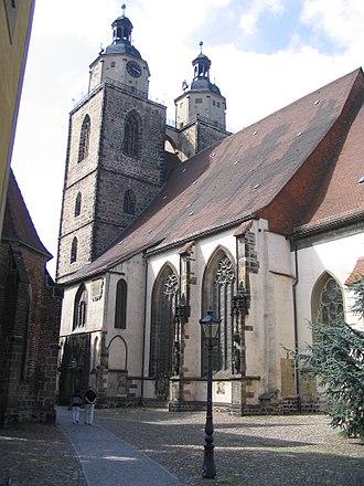 Stadtkirche Wittenberg - Image: Wittenberg Stadtkirche
