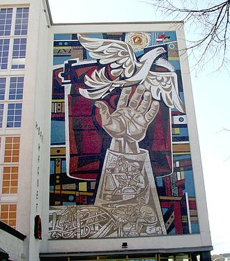 Culture of East Germany - Mosaic by Walter Womacka in Eisenhüttenstadt.