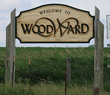Woodward Iowa 20090607 Sign.JPG