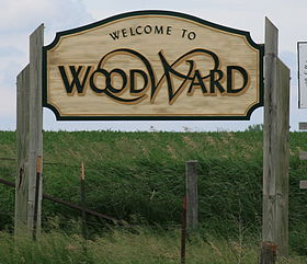 خط الأفق لـ Woodward, Iowa