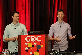 """Dragon Age: Inquisition - Technical designer Mark Wilson and narrative designer Kaelin Lavallee presenting on the game's """"story and systems"""" at GDC 2015"""