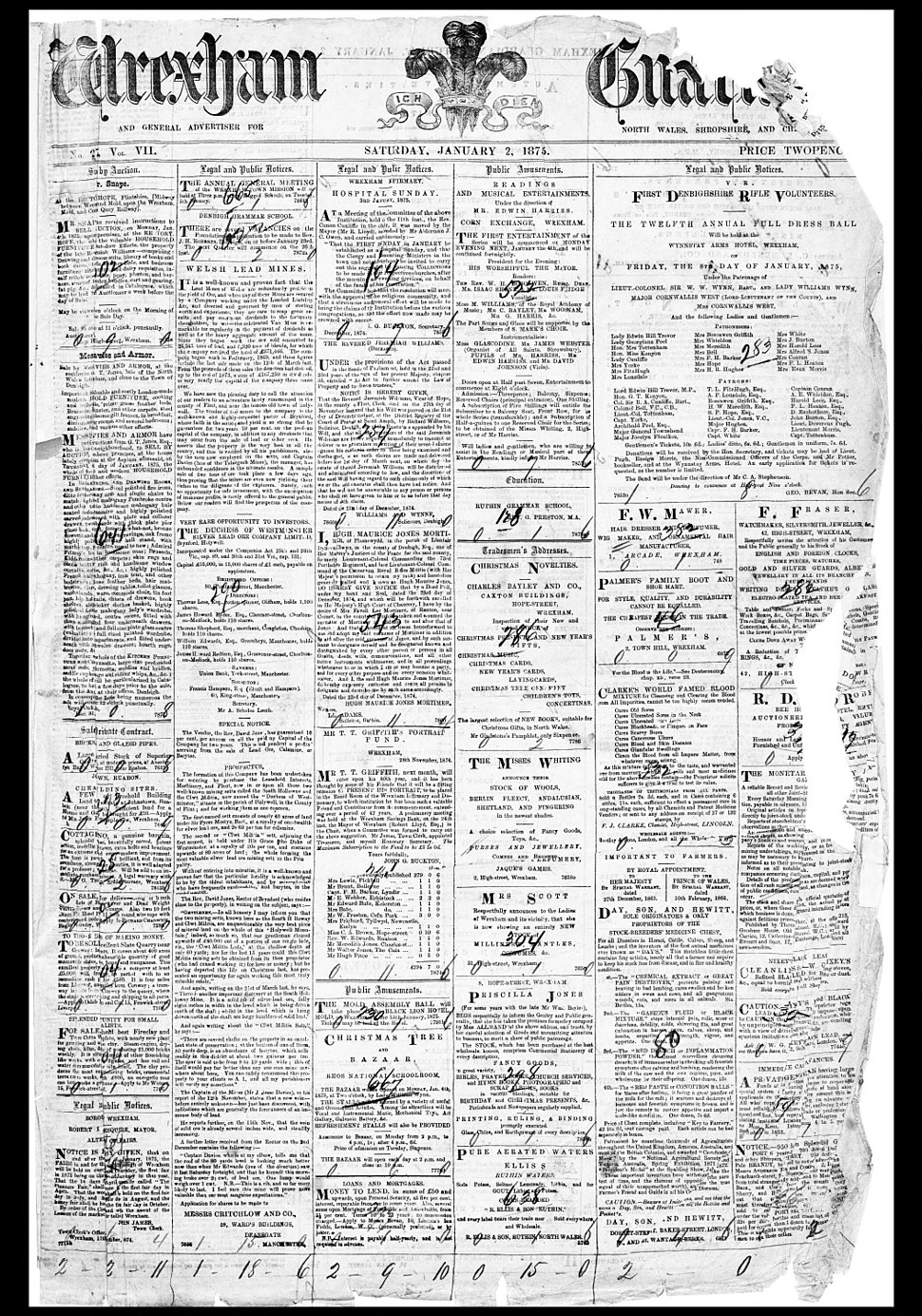 Wrexham Guardian Jan 2 1875