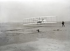 Wright brothers' first flight