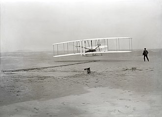 Maiden flight - Wright Flyer on December 17, 1903