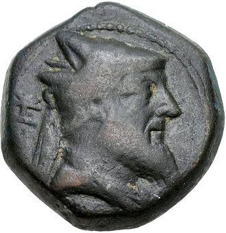 Xerxes of Armenia - Coin of king Xerxes, from around 220 BC