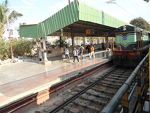 Yesvantpur Junction railway station - Image: Yeswanthpur Railway Station 01