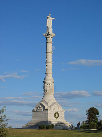 Yorktown, Virginia - Monument at Yorktown, celebrating victory in the American Revolutionary War. Installed 1884.