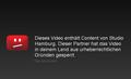YouTube blocked Studio Hamburg country de.png