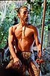 Young Maori man dancing.jpg Young Maori man. Appar...