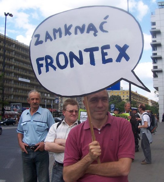 File:Zamknąć FRONTEX - Shut Down FRONTEX Warsaw 2008.jpg